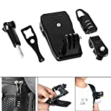 Fantaseal® Sac Pince Kit, Mini Sac à Dos Clip Set pour Gopro Accessoires, Sac à Dos Fixation 360 dégrés Rotation pour Sony Caméra Accessoires pour GoPro Hero4 /3+/3/ Session Sony FDR X-3000V etc