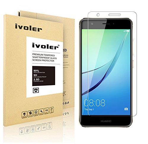 Huawei Nova Pellicola Protettiva, iVoler® Pellicola Protettiva in Vetro Temperato per Huawei Nova - Vetro con Durezza 9H, Spessore di 0,2 mm,Bordi Arrotondati da 2,5D-Shockproof, Trasparenza ad alta definizione, Facile da installare- Garanzia a vita