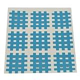 Kinseologie Gittertape 2,7 cm x 2,1 cm 10 Bögen in Blau, Cross Patches, Cross Tape