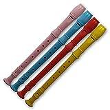 80812, 6 Stück bunte Kinder Blockflöten als Mitgebsel oder Mitbringsel, Tombola oder Verlosungsartikel.
