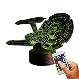 Stuff4Players Star Trek Dekolampe USS Enterprise NCC-1701 (3D-Hologramm Illusion)