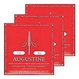 3x Augustine Red Saitensatz (Mittel) Nylon-Konzert-Klassik-Gitarre-Saitzen-Satz