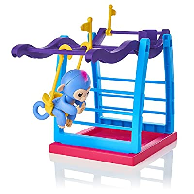 WowWee Fingerlings Monkey Bars Playset with monkey