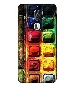 PrintVisa Colorful Chocolate Background 3D Hard Polycarbonate Designer Back Case Cover for Coolpad Cool 1 Dual