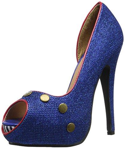 Ellie Shoes Frauen Harbor Peep Toe D-Orsay Pumps Blau Groesse 7 US /38 EU