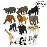 TOYMYTOY Mini Wildtier Spielzeug Set - Tiere Figuren Modell Spielzeug - Educational Cognition Spielzeug für Kinder - Pack von 12