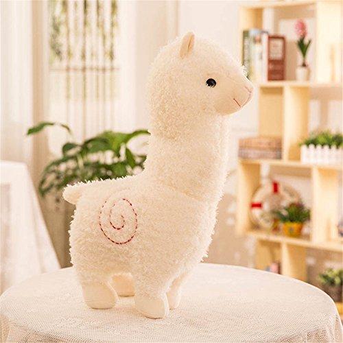 Zinsale Carina Alpaca Peluche Doll Cuscino peluche delle pecore Animali di peluche (Bianca, 35cm)