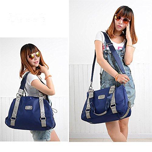 LINGE-In nylon Ladies borsa a tracolla borsa , blue trumpet blue large