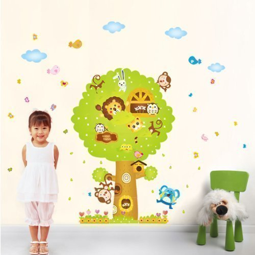 Tier AFFE Baum Kinderzimmer Wandsticker Aufkleber Papier Kunst Dekoration