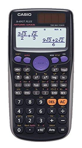 Casio fx-85gtplus–Taschenrechner (Tasche, Batterie/Solar, wissenschaftlicher Taschenrechner, schwarz, Tasten, LR44) Casio Solar 2015
