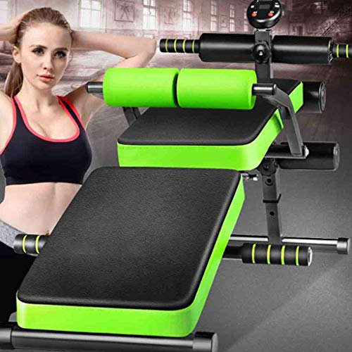 Home Gyms Sit-up board sit-ups assistive fitness equipment home multi-function training abdominal muscles foldable abdominal device (Color : Black)