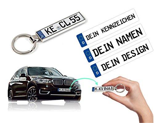 Schlüsselanhänger mit Ihrem KFZ-Kennzeichen und TÜV Plakette Aufkleber personalisiert Geschenk Mann Frau Freund Freundin Mama Papa für Audi BMW Mercedes Opel Mazda Skoda Toyota Huyndai