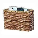 JZX Straw Magazine Basket Basket Panier de rangement rectangulaire avec poignée gfhgfhfghfg...