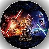 Fondant Tortenaufleger Tortenbild Geburtstag Star Wars T9