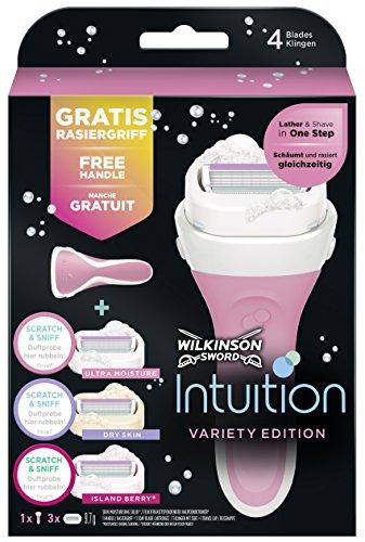 Wilkinson Sword Intuition Summer Variety Vorteilspack Rasierklingen mit Damen Rasierer, 3 St (Rasierer Summer)