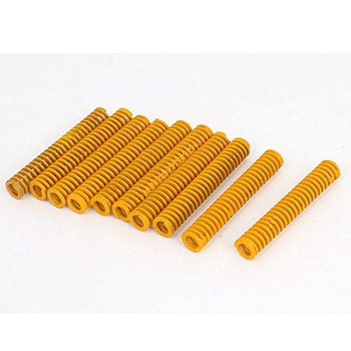 Preisvergleich Produktbild sourcingmap® 10 Stk 8mm OD 50mm lange Leichte Last Stanzen Kompression Schimmel Feder gelb