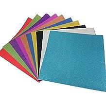10 Hojas Cartulinas Adhesivas de Colores Brillantes Cartulinas de Colores Papel Pegatina para Manualidades DIY Artcraft Trabajo Álbumes de Recortes 30*30cm Multicolor