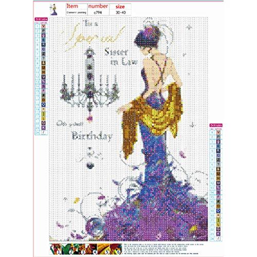 Huacat 5D Stickerei Gemälde Strass Teenager-Mädchen Geklebt DIY Diamant Malerei Kreuzstich Voll Bohren Bilder Kunst Handwerk Für Daheim Dekoration
