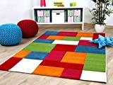 Savona Kinder Teppich Kids Karo Bunt Design Multicolour in 5 Größen