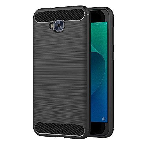 AICEK ASUS Zenfone 4 Selfie ZD553KL Hülle, Schwarz Silikon Handyhülle für Zenfone 4 Selfie ZD553KL Schutzhülle Karbon Optik Soft Case (5,5 Zoll)
