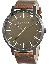 Esprit Herren-Armbanduhr Evan Analog Quarz Leder ES108271002