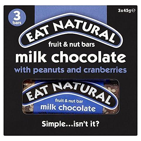 Manger Des Arachides Naturelles , , Canneberges Noix De Cajou Et Des Barres De Chocolat Au Lait (3X45G)