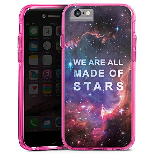 Apple iPhone 8 Bumper Hülle Bumper Case Glitzer Hülle Sprüche Phrases Sayings Bumper Case transparent pink