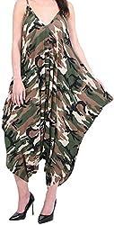 Womens Plain Print Cami Jumpsuit Playsuit Romper Harem Lagenlook Dress Size 8-16