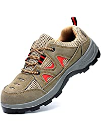 Ali-tone Arbeitsschuhe Damen Herren S3 Sicherheitsschuhe mit Stahlkappe Leicht Atmungsaktiv Turnschuhe Sportlich Trekking Wanderhalbschuhe Hiking Schuhe Unisex Schutzschuhe