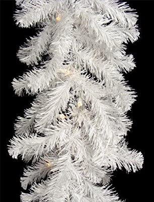 New 9ft White Glacier Pine Christmas Garland Luxury Design