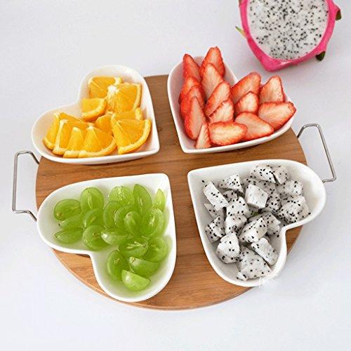 Teller-Nachtisch-Obst-Teller-Nachmittagstee-Herz-geformte Kuchen-Stand-Platte ()