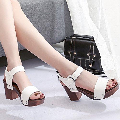 Amlaiworld Estate donne tacchi alti sandali confortevole moda bianco
