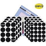 Nardo Visgo Etiquetas redondas de pizarra-128 Etiquetas de pizarra removibles reutilizables con marcador de tiza blanco de 3MM para etiquetar tarros, cajas y organizar su hogar, cocina y oficina (negro)