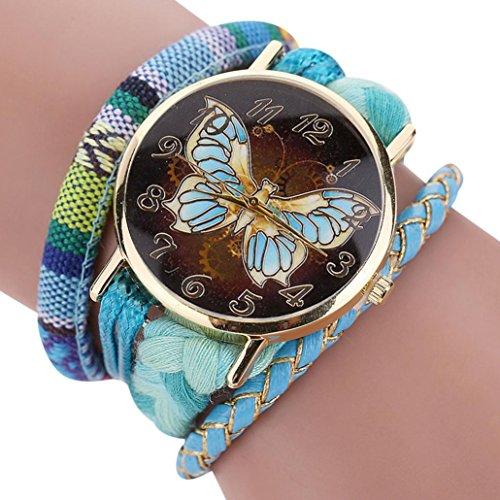 AutumnFall l' elegante elegante e chic Knit braccialetto farfalla orologio da donna decorativa One size Scarpe da fitness/cross-training da uomo