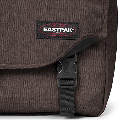 Eastpak Delegate Borsa a Tracolla, 20 Litri, Nero (Black) Marrone (Crafty Brown)