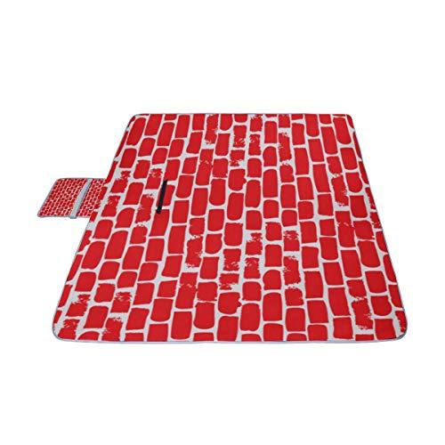 AGIRL Brown Brick Wallhand Drawn Picknick-Matte 57 '' x 59 '' (140cmx150cm) Picnic Blanket Strandmatte mit wasserdichter für Kinderpicknickstrände und gefaltete Tasche im Freien (Punk Strandtuch)