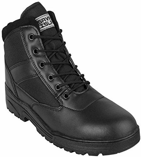 Männer Kampfstiefel Schuhe Der (Schwarze Leder Combat Boots Militärstiefel Kampfstiefel Mittelhoch Bundeswehr)