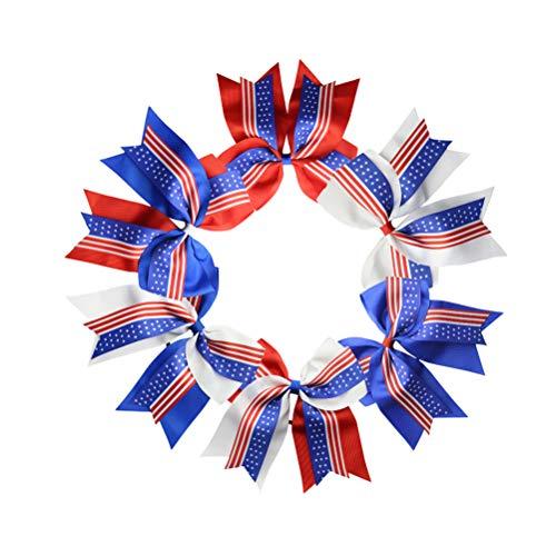 ugt Uns Markierungsfahnenhaarbandhaarseilkindermädchenhaarzusätze für Unabhängigkeitstag 4. von Juli ()
