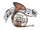 Nuova immagine dell'arte contemporanea parete di metallo o una scultura - Francese musica corno turbolenza
