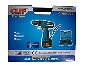Clif Rechargeble Cordless Drill Torque Adjustable Screw Driver Drilling Machine