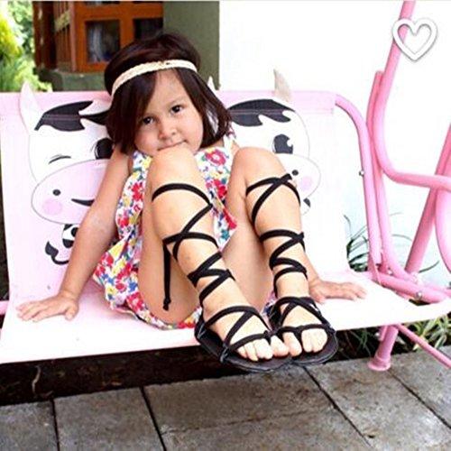 leap frog  Roma Gladiator Sandals, Baby Mädchen Lauflernschuhe Schwarz