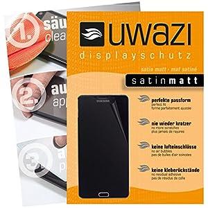 Samsung Galaxy A9 Pro (SM-A9100) Schutzfolie 5x uwazi satin-matt Displayschutzfolie Folie