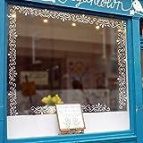 Pegatina cenefa para decoracion de muebles escaparates paredes de salon cuartos color blanco de OPEN BUY