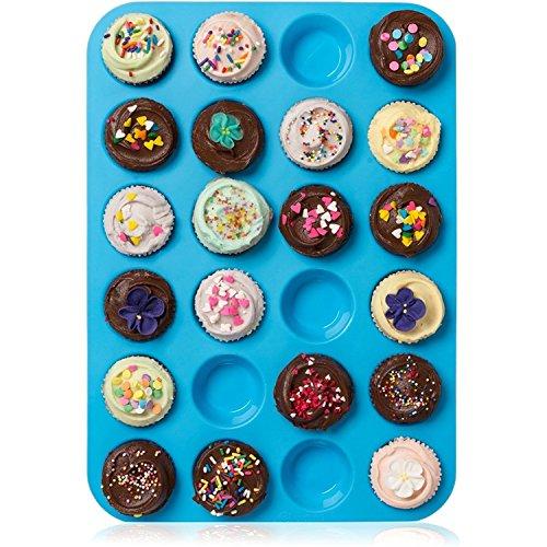 HelpCuisine® muffinformen aus Silikon, antihaftbeschichtet, Cupcakes Backform mit 24 Muffinförmchen.