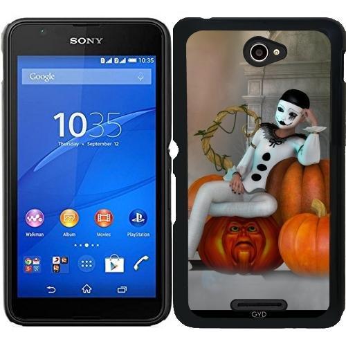 Hülle für Sony Xperia E4 - Pumkin Clown by (Clow Beängstigend)