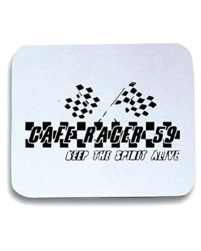 Cotton Island - Tappetino Mouse Pad FUN0915 cafe racer 59 keep the spirit alive flask, Taglia taglia unica