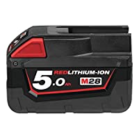 Milwaukee M28B5 M28 5.0Ah Red Lithium-Ion Battery