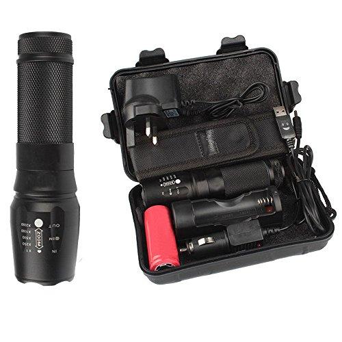 DOGZI Led Taschenlampe Verstellbar, Baumarkt Eisenwaren - 6000lm Genuine X800 Tactical Flashlight L2 LED Taschenlampe für Militärische Zwecke