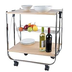Carrello da cucina richiudibile casa e cucina for Top cucina amazon