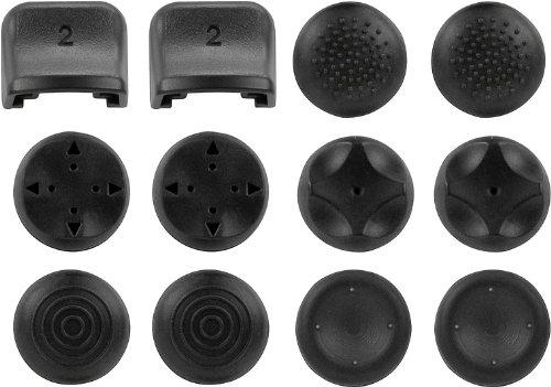 Speedlink Trigger- und Analogstick-Aufsätze für PS3 - TRIGGER Controller Add-On Kit (Individueller Grip der Analogsticks - Perfekte Kontrolle der Schultertasten - 5 Designs für unterschiedliche Spielgenres) schwarz